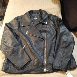 Steve Madden Black Faux Leather Motorcycle Jacket